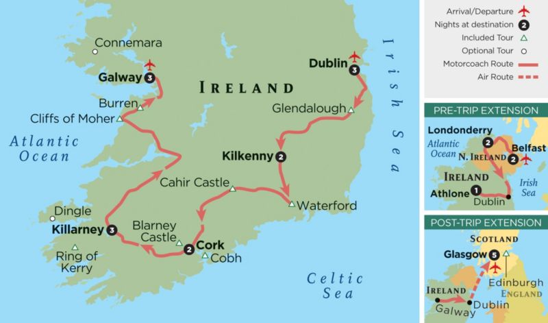Zero G Map Of Ireland.Ireland Tour 14 Day Trip To Ireland Grand Circle Travel