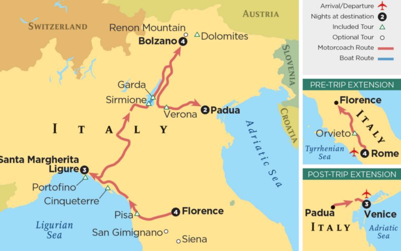 Road Map Of Southern Italy.Italy Travel Adventure Travel With Grand Circle Travel