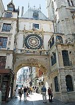 View Rouen's Gros Horloge clock