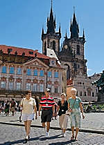 Explore Prague's Old Town Square and view Tyn Cathedral