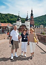 View a beautiful bridge in Heidelberg Germany