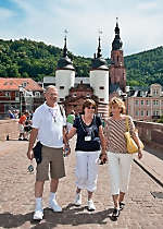 View the Karl Theodor Bridge in Heidelberg Germany