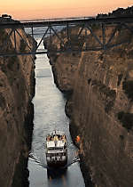 Explore the Corinth Canal aboard MS Athena