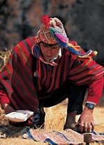 See a curandero ceremony performed by a medicine man