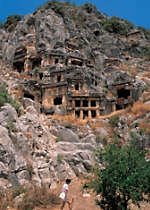See Lycian ruins during a tour of Turkey