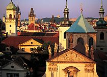 View the soaring towers of Prague