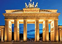 View the Brandenburg Gate while touring Berlin