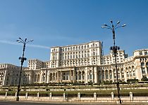 See the Palace of Parliament while touring Bucharest