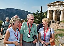 Explore the Temple of Apollo in Delphi