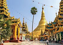 See the 2,500-year-old temple Shwedagon Pagoda