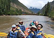 Explore scenic Peru by rafting the Urubamba River