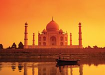 View the Taj Mahal on a moonlight garden tour