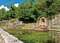 View an archaeological site in Butrint