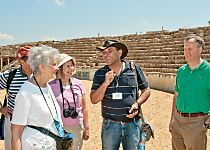 Discover the Roman ruins at Caesarea