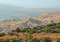 View the Sea of Galilee during a tour of Israel