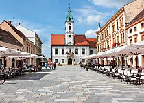 View Varazdin's Main Square and City Hall