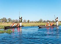 Explore Botswana's Okavango Delta by dugout canoe