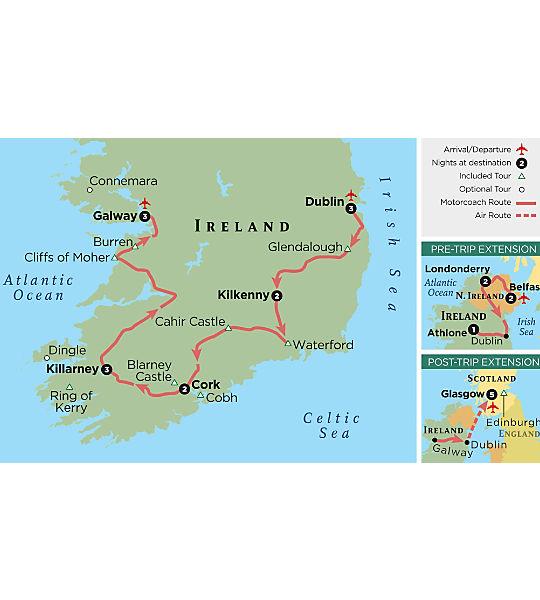 Map Of Ireland 600 Ad.Ireland Travel