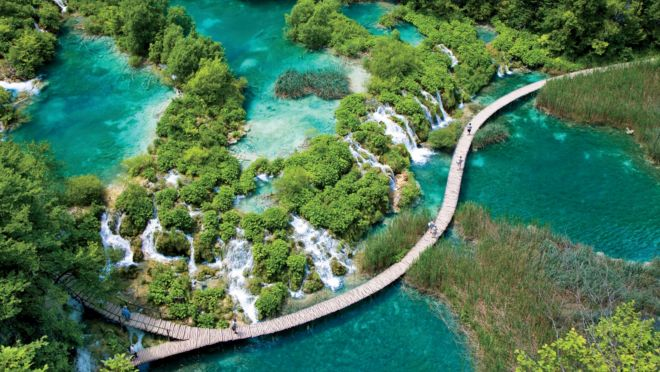 Croatia travel adventure travel with oat deep within croatias mountainous central region a stones throw from the border with bosnia and herzegovina lies one of europes most intriguing natural sciox Image collections