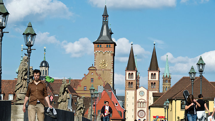 View scenic German towns and countryside while sailing along the Main River