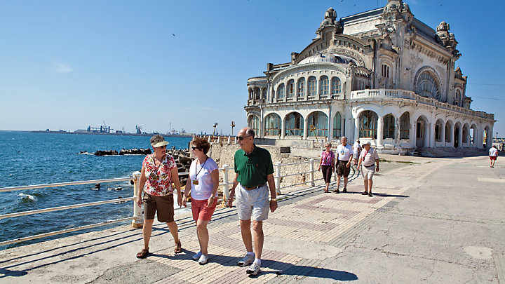 View the Black Sea while strolling Constanta's boardwalk