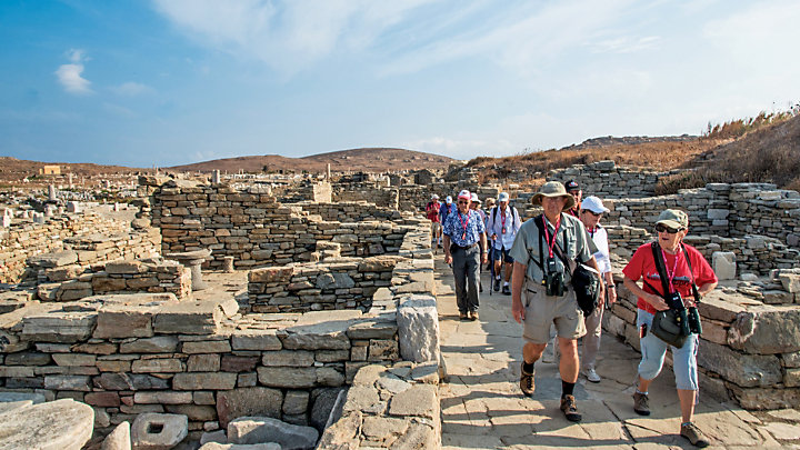 Explore the ancient ruins at Delos