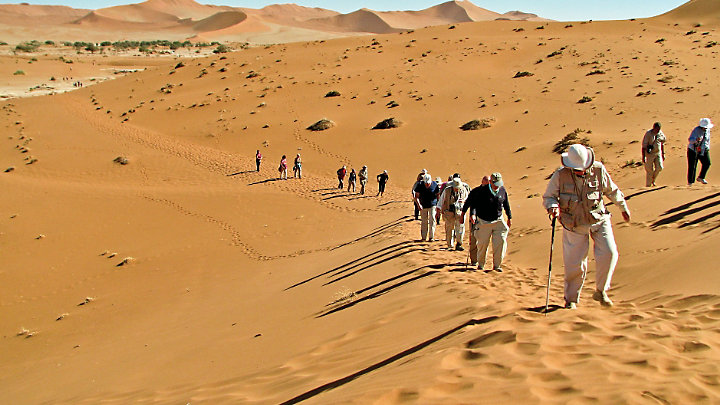 Encounter Sossusvlei sand dune while touring Namibia