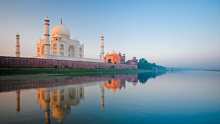 View the Taj Mahal on a moonlight garden tour