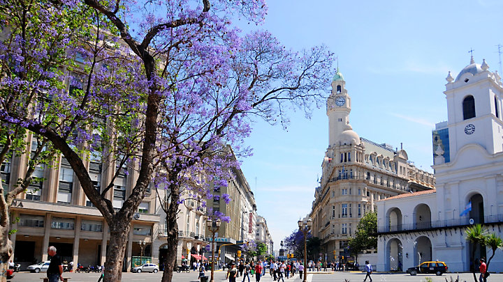 View Plaza San Martin while touring Buenos Aires