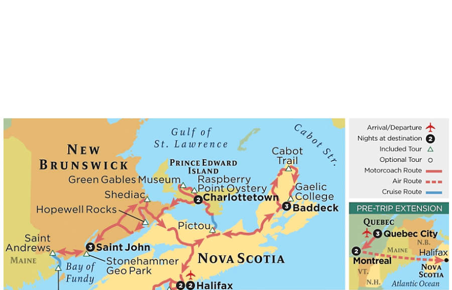 The Canadian Maritimes Nova Scotia New Brunswick  Prince Edward